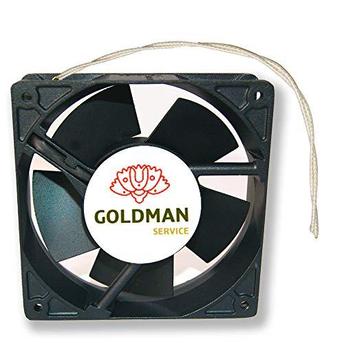 Ventilator Axialventilator für Kaminkassetten mit hoher Temperatur, aus Metall, universell, 120 x 120 x 38 mm.