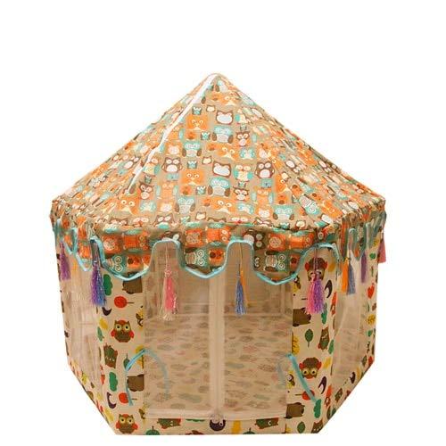 Xiaohua Tienda De Mascotas Hexagonal Tipi Casa De Mongolia Cama para Perros Perrera Casa Gatito Nido De Gato Tienda De Malla Desmontable 85 * 75CM E