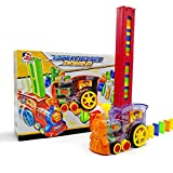 Syfinee Domino Rally Electronic Train Model Colorful Toy Set Girl Boy Children Kids Gift Domino Train Toy Set Rally Electric Train Model with Light and Sound Car Truck Vehicle Stacking Toy