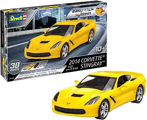 Revell 7449 07049 7049 1:25 (Easy-Click) Plastic Model Kit 07449 2014 Corvette Stingray, Mehrfarbig, 1/25