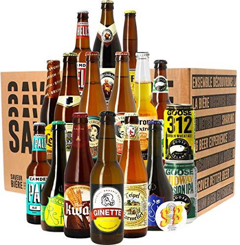Assortiment ou Coffret de bières - Idée Cadeau - Bières du Monde - Pack de Bière - Noël - Anniversaire - Fête des pères (Assortiment les 18 Bières Meilleures Ventes)
