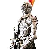 YoLiy Armure Médiévale Chevalier Médiéval Complet Armure De Collection Creative Salon Plancher Décoration Stand Argent Décoration (Color : Silver, Size : 55x35x161cm)