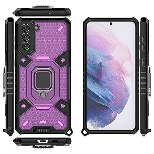 Case Cover, Per Samsung Galaxy S21 Plus Cassa del telefono cellulare, custodia per smartphone porta rotante, porta cellulare antiurto porta cellulare per Samsung Galaxy S21 Plus ( Color : Purple )