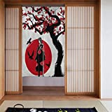 DIYYAO Home Decor Japanese Traditional Uchiha Itachi Printed Doorway Curtain Polyester 34'' X56 Door Curtain for Kitchen Bistro Partition Shading Home Decorative
