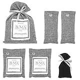 IVMA Home Bamboo charcoal deodorizer bags for mold and mildew | House shoe car air fresheners | Smoke pet odor eliminator | Closet purifying bag | Gym bag moisture absorber | Refrigerator freshener 6 pcs