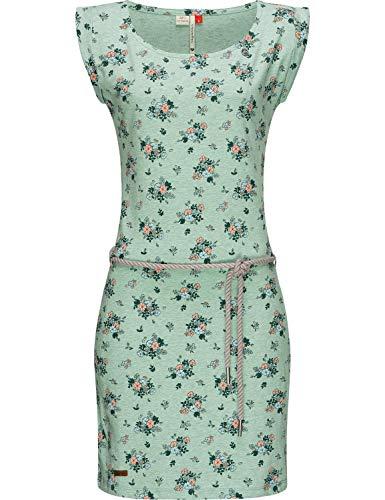 Ragwear Damen Kleid Dress Sommerkleid Strandkleid Jerseykleid Freizeitkleid Tamy Grün M20 Gr. M