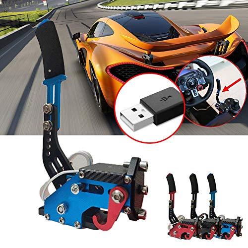 CVERY Frein à Main Drift USB 14 Bits pour Racing Games G25 / 27/29 T500, Dérive Universelle Réglable en Hauteur avec Système Windows(Bleu)