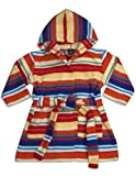 WXY - Baby Boys Fleece Striped Robe, Orange, Purple, Raspberry 32896-9-12Months