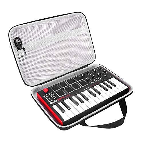 Seracle Funda para teclado Akai Professional Fire o MPK Mini MKII o MPK Mini Play Keyboard.Funda de transporte portátil de viaje funda protectora de la caja de la funda