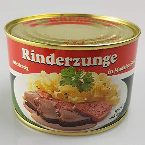 Hodum - Rotbanddose aus Blech, Durchmesser 99 mm, 100 Stück Aufdruck: Rinderzunge in Madeira-Sauce