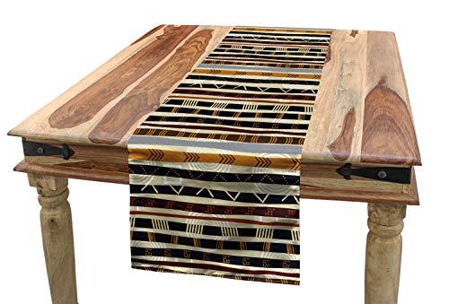 ABAKUHAUS Resumen Camino de Mesa, Figuras Trippy geométricos, Decorativo para el Comedor o Sala de Estar Fácil de Limpiar, 40 x 180 cm, Multicolor