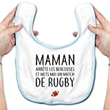 Inconnu Bavoir bébé Match de rugby