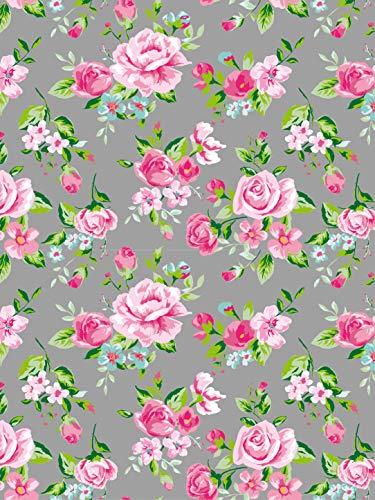Papel Décopatch No. 716 - Paquete de 20 hojas (395 x 298 mm, ideal para papmachés) color gris y rosa