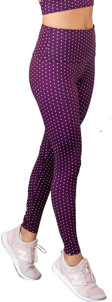 Onzie Hot Yoga High Rise Legging 228 Aubergine Dot