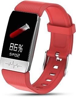 Smartwatch Medición de Temperatura Multifuncional Impermeable con Monitor de Sueño Contador de Caloría Pulsómetros Podómetro para Hombre Mujer niños Fauay