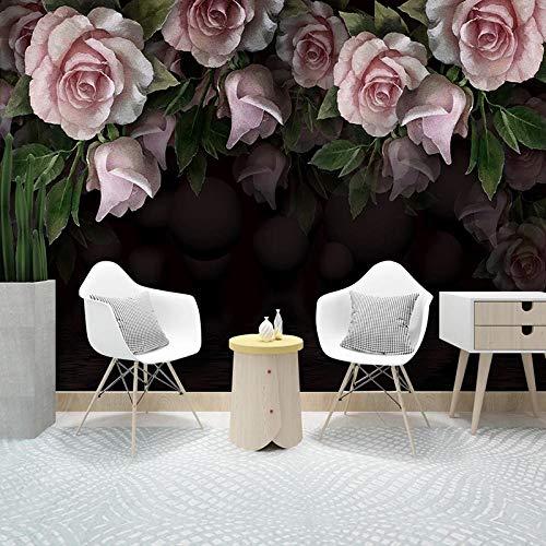 Custom 3D Foto Behang Muurschilderingen Romantische Mode Pioenroos Bloem Muurschildering Moderne Woonkamer Sofa Decoratie Muurschildering-400x280cm(157.5by110.2in)