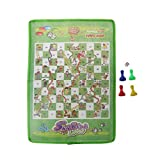 WT-DDJJK Flying Chess, Snake and Ladder Kids Flying Chess Tela no Tejida Juego de Mesa Familiar portátil