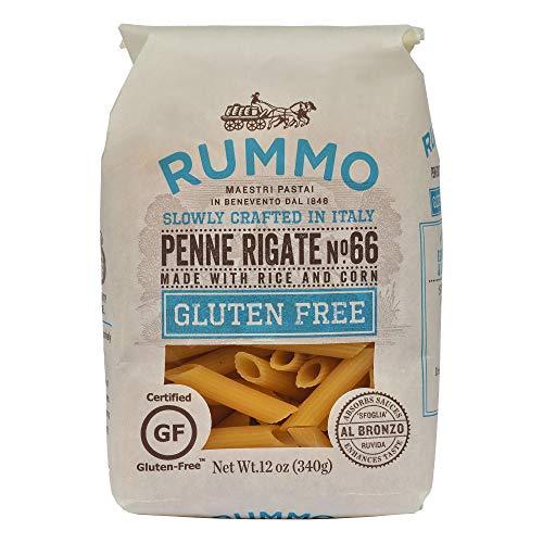 Rummo Penne Rigate N ° 66   Italian Gluten Free Pasta   12 Ounce   Pack of 6