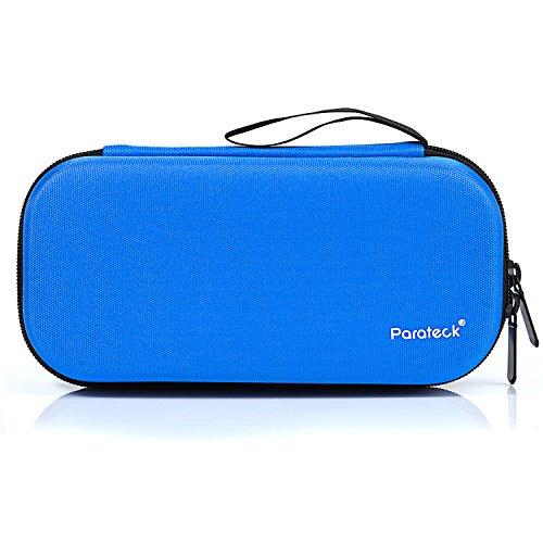 Insulin kühltasche Temperaturanzeige Diabetiker Tasche Kühltaschen Boxen mit 3 Kühlakkus für Medikamente Kühler 20.5X9.5X7cm (Blau)