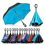 Cloud Club Umbrella Windproof, Reverse Umbrella, Umbrellas for Women with UV Protection, Upside