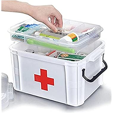 Large capacity Household Multi-layer First Aid Kit Multifunctional Medicine Box/first Aid Kit/Jewelry storage box/storage Boxes Organizer