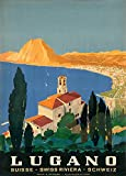 World of Art Vintage Travel Schweiz für Lugano der