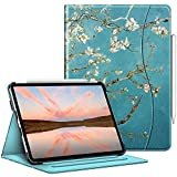 Fintie Case for iPad Pro 11-inch (3rd Generation) 2021 - Multiple Angle Viewing Folio Stand Cover with Pencil Holder & Pocket, Also Fit iPad Pro 11' 2nd Gen 2020 / 1st Gen 2018, Blossom