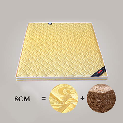 Save %34 Now! HOMRanger Thicken Coir Mattress,Double Sided Yellow Floor Mattress Breathable Relieves...