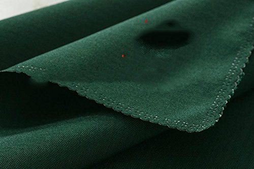 ZHFC table ronde solide tissu green tissu tissu meeting hôtel restaurant square nappe de nappes avec 1.2 * 1,6 m 1 bloc,vert noirâtre,1,8 m