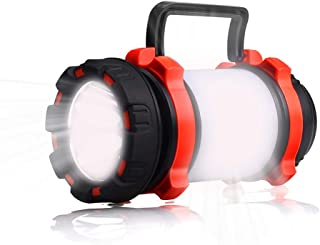 YIERBLUE Camping Lantern, Rechargeable LED Lantern IPX4 Waterproof 600lm Lantern Flashlights, 3 in 1 Multifunctional Camping Light Spotlight as Emergency Power Bank, 4000mAh Long Running
