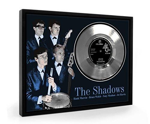 Shadows Apache Framed Disco d'argento Display Vinyl (C1)