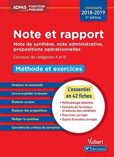 Note et rapport