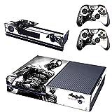 REYTID Piel de Consola Pegatina + 2 x calcomanías del Controlador & kinect Wrap Compatible con Microsoft Xbox One - Conjunto Completo - Batman Arkham