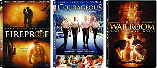 Alex Kendrick: Complete 3 DVD Movies - Works of God Collection (Fireproof / Courageous / War Room)