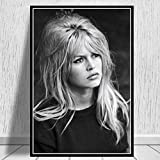 NOVELOVE Wandkunst Bild Brigitte Bardot Filmschauspielerin