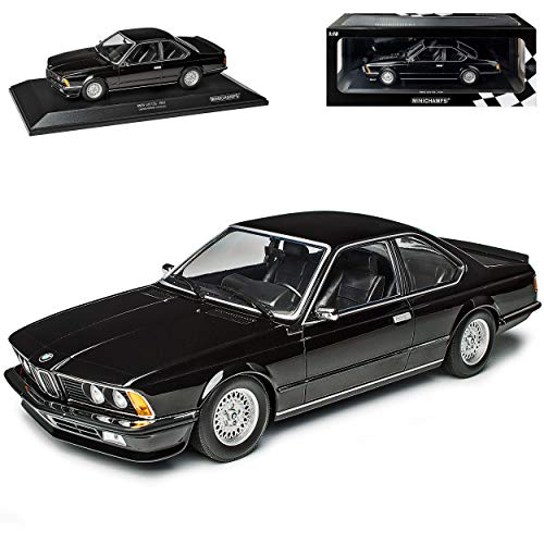 B-M-W 6er 635 CSI E24 Coupe Schwarz 1975-1989 limitiert 1 von 504 Stück 1/18 Minichamps Modell Auto mit individiuellem Wunschkennzeichen
