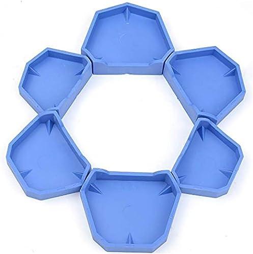 AZDENT Dental Lab Model Former Base Molds Blue Color Two Types(1 Pack/6Pcs)