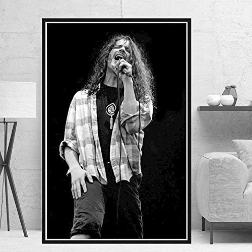 YF'PrintArt Impresiones En Lienzo, Chris Cornell, Cantante De Música, Estrella, Lienzo Pintura Cuadros En La Pared, Arte Vintage, Decoración Decorativa para El Hogar 50X70Cm No Cuadro,-Yf138
