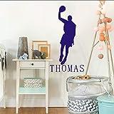 jiuyaomai Wandaufkleber Basketball Player Home Decoration Personalisierter Name Boys Room Art...
