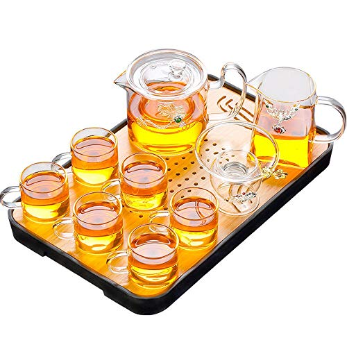 Review Of Japanese Tea Set Japanese Tea Set Heat Resistant Glass Clear With Silver Decoration And Wo...