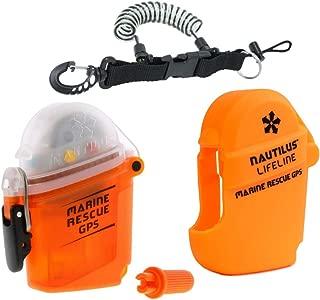 Nautilus LifeLine Marine GPS and Silicone Pouch w/ free Coil Lanyard (Orange)