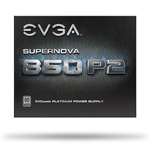 EVGA SuperNOVA 850 P2, 80+ PLATINUM 850W, Fully Modular, EVGA ECO Mode, 10 Year Warranty, Includes FREE Power On Self Tester, Power Supply 220-P2-0850-X1