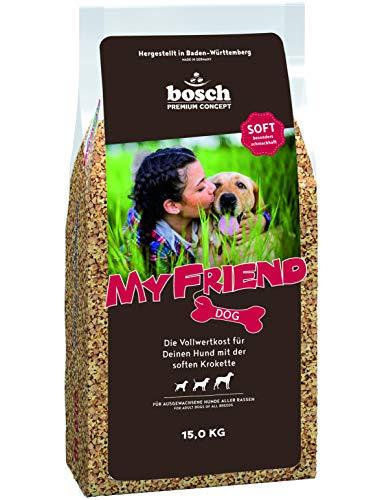 bosch My Friend Soft | Hundefutter für ausgewachsene Hunde aller Rassen | Vollwertkost mit softer Krokette
