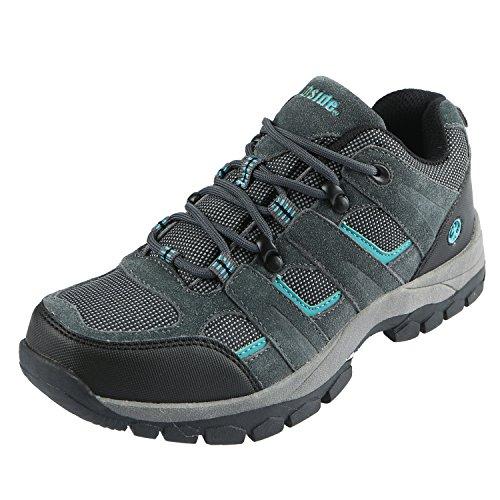 Northside Women's Monroe Low Hiking Shoe, Dark Gray/Dark Turquoise, 8 M US