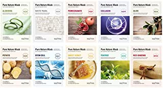 [Secriss] Pure Nature Full Face Facial Mask Sheet 10ea Variety Pack