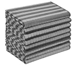gryeer 8er-Set Microfaser Geschirrtücher, Weiche, super saugfähige und fussel freie Küchentücher, 45 x 65 cm, Grau