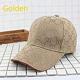 Tendencia de Moda Universal Hombres Sombreros para el Sol Sombrero de Mujer Gorra de béisbol de Hip Hop Dorado Hombres Snapback Ajustable Casual Mujeres GorrasSombrero-Gold-Adjustable
