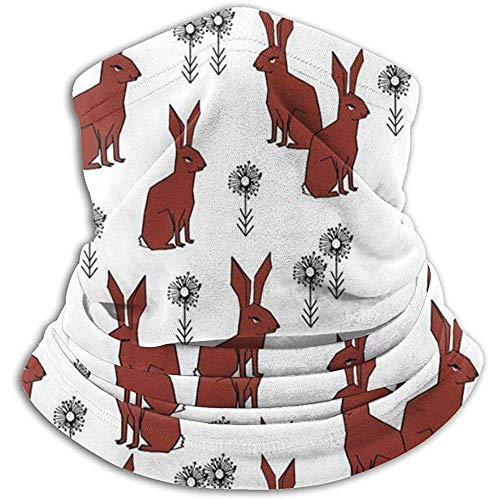 NA Rabbits Fall Autumn Scarf Neck Warmer Soft Microfiber Headwear Face Scarf Mask for Cold Weather Winter Outdoor Sports