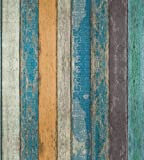 Rustic Plank Wood Peel and Stick Wallpaper - Wood Wallpaper –Peel and Stick Backsplash Prepasted Wall Paper...