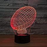 Luz de noche ilusión 3D luz de estado de ánimo para niños Control remoto de 7 colores y luz de regalo de vacaciones con botón táctil - Forma de fútbol americano